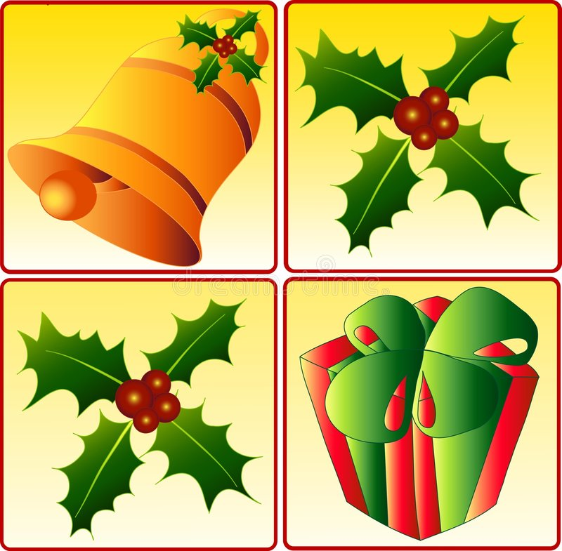 graphismes de Noël illustration libre de droits