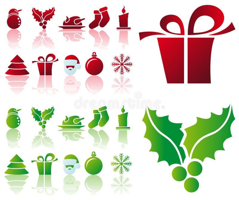 Graphismes de Noël de vecteur illustration libre de droits