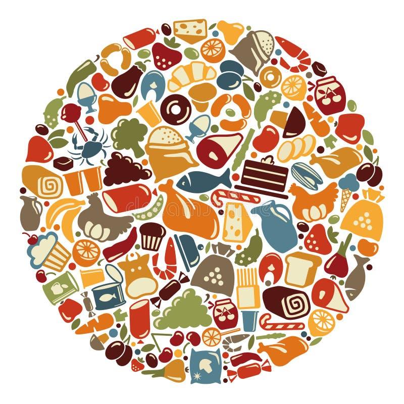 Graphismes de nourriture Illustration de vecteur illustration stock