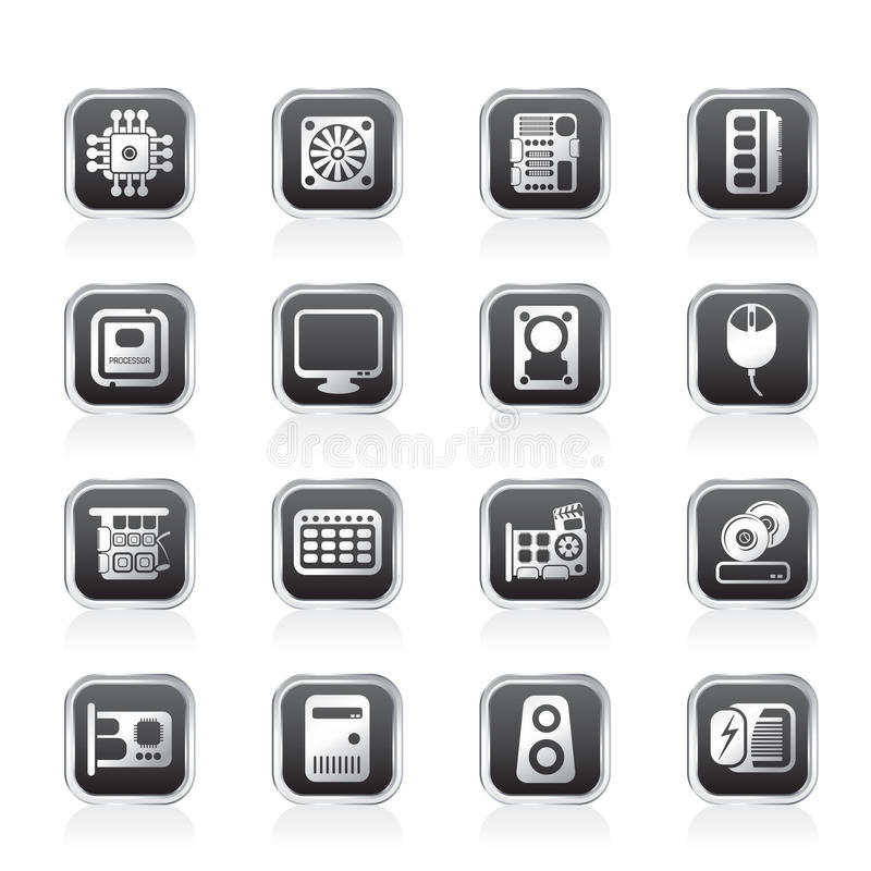 Graphismes de performances et de matériel d'ordinateur illustration stock
