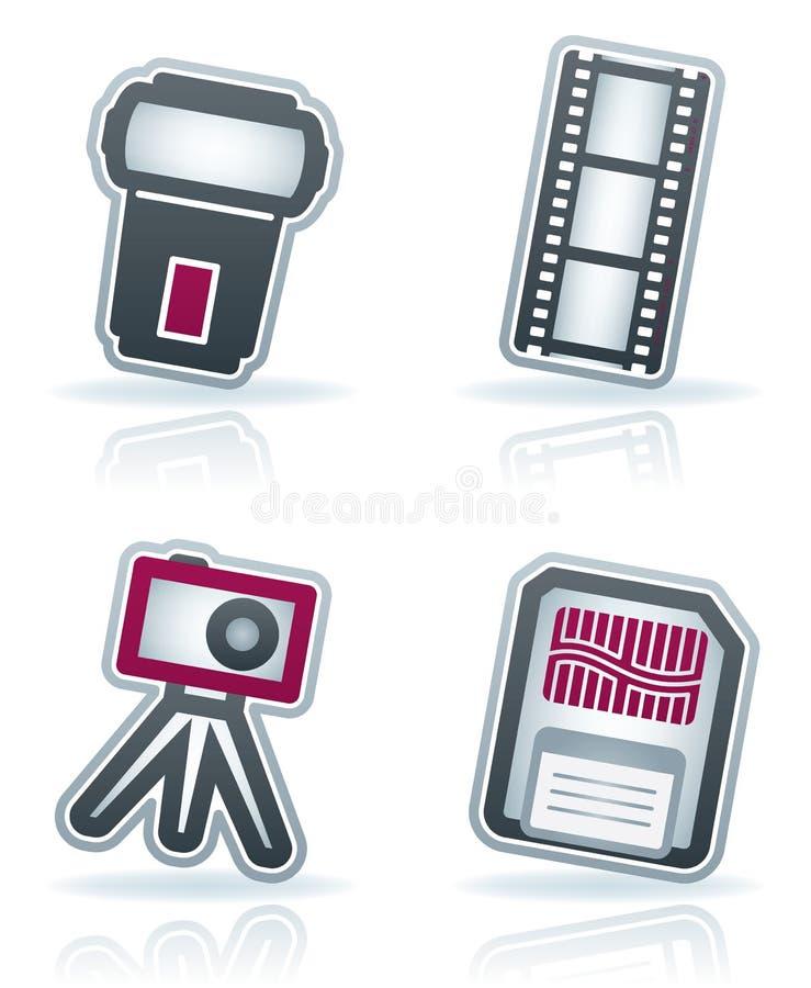 Graphismes de photographie réglés illustration libre de droits