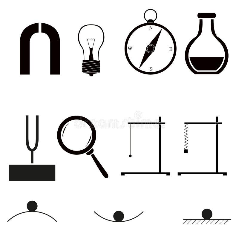 Graphismes de physique illustration stock