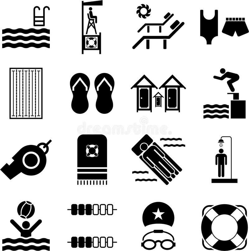 Graphismes de piscine illustration stock