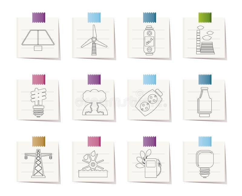 Graphismes de pouvoir, d'énergie et d'électricité illustration de vecteur
