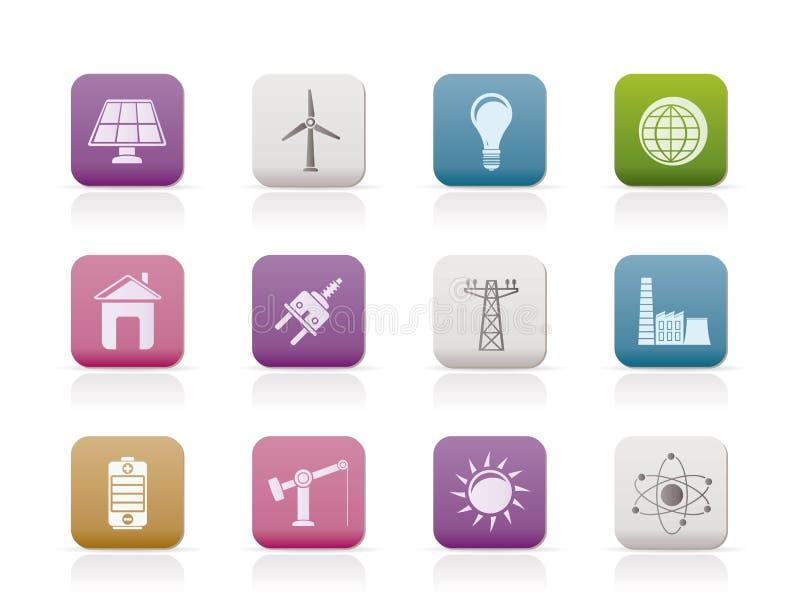 Graphismes de pouvoir, d'énergie et d'électricité illustration libre de droits