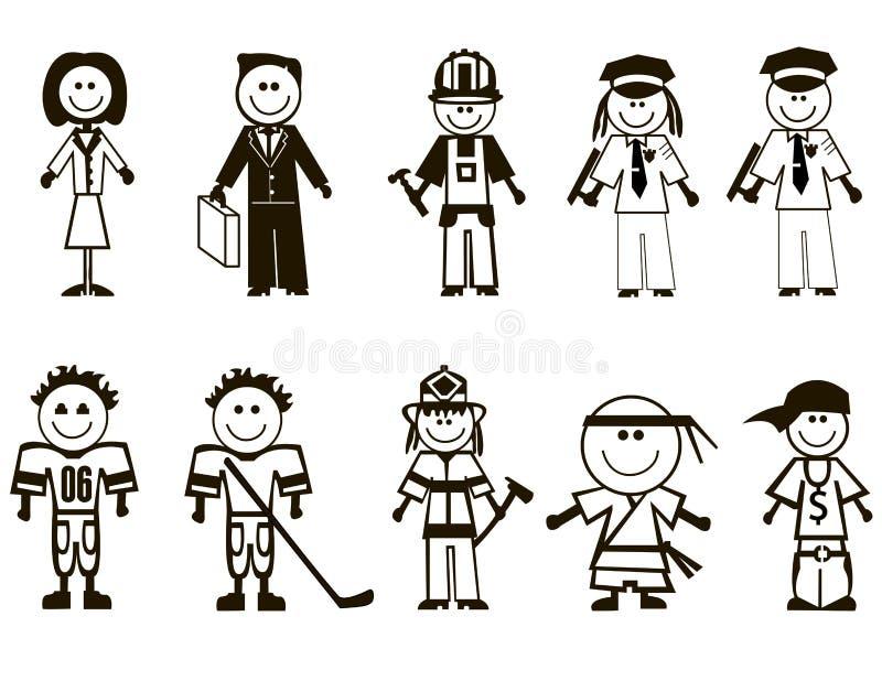 Graphismes de professions de dessin animé