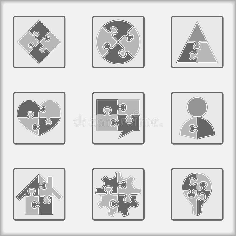 Graphismes de puzzle illustration stock