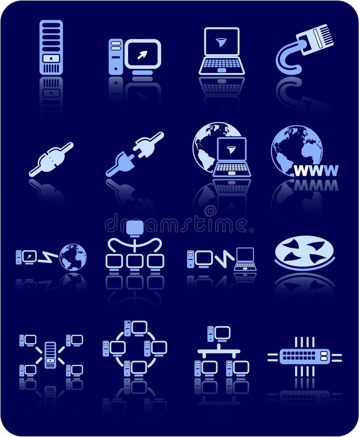 Graphismes de réseau illustration libre de droits