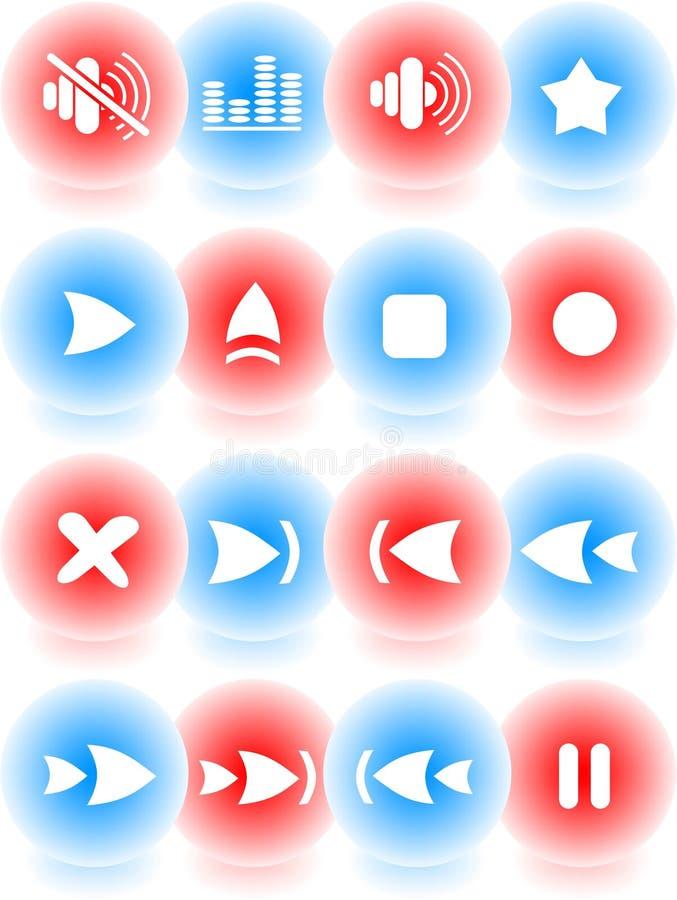Graphismes de reproducteur multimédia illustration de vecteur