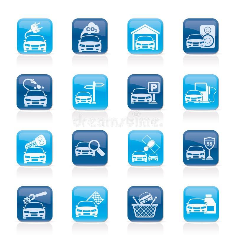 Graphismes de services de véhicule et de route illustration de vecteur