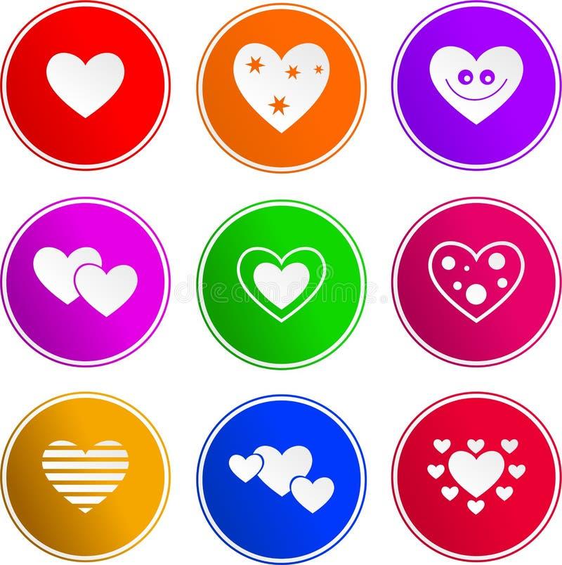 Graphismes de signe de coeur illustration de vecteur