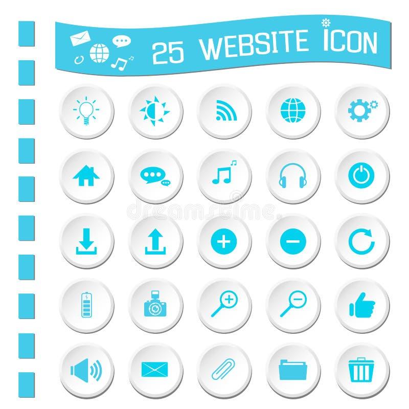 Graphismes de site Web illustration libre de droits