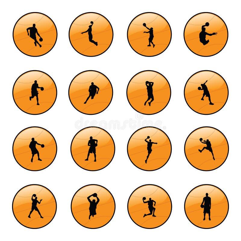 Graphismes de site Web de basket-ball illustration stock