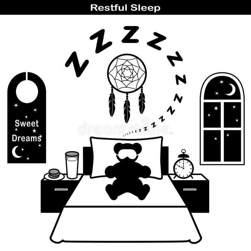 Graphismes de sommeil reposant illustration libre de droits