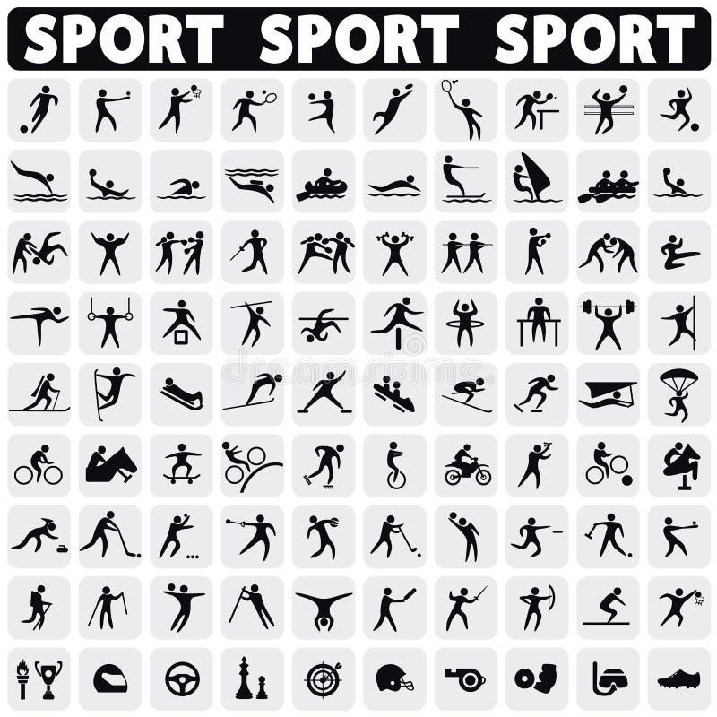 Graphismes de sports réglés illustration de vecteur