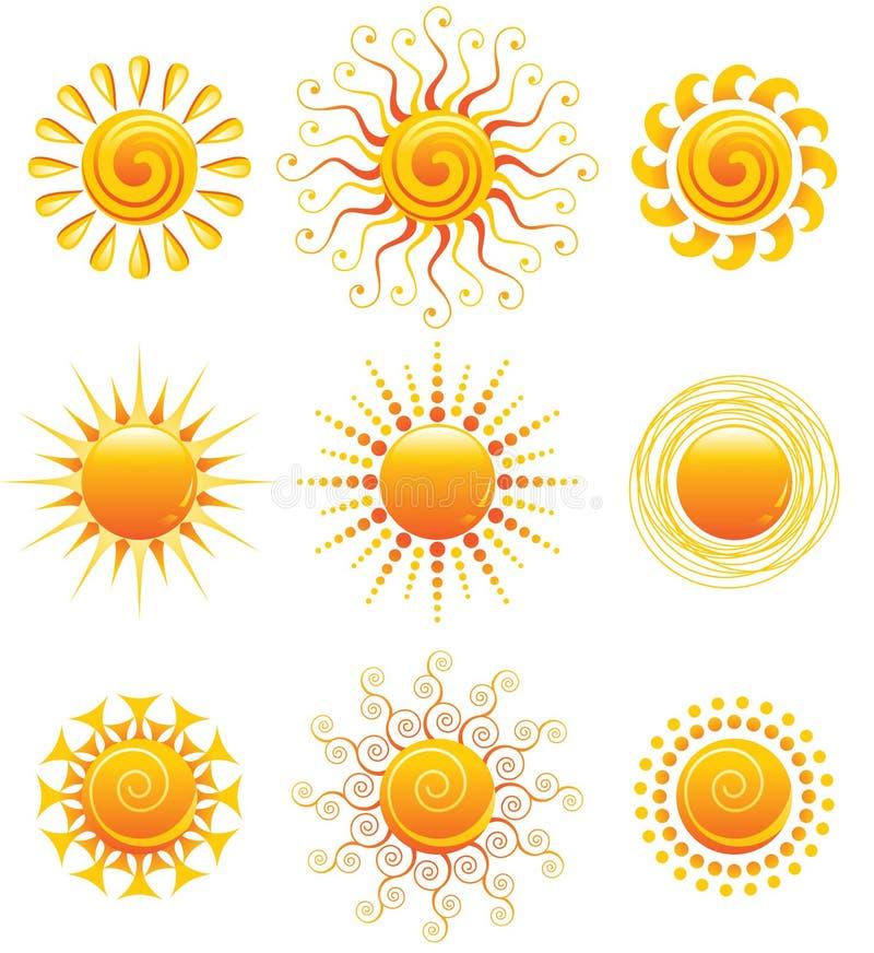 Graphismes de Sun illustration libre de droits
