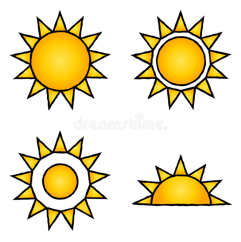Graphismes de Sun illustration stock