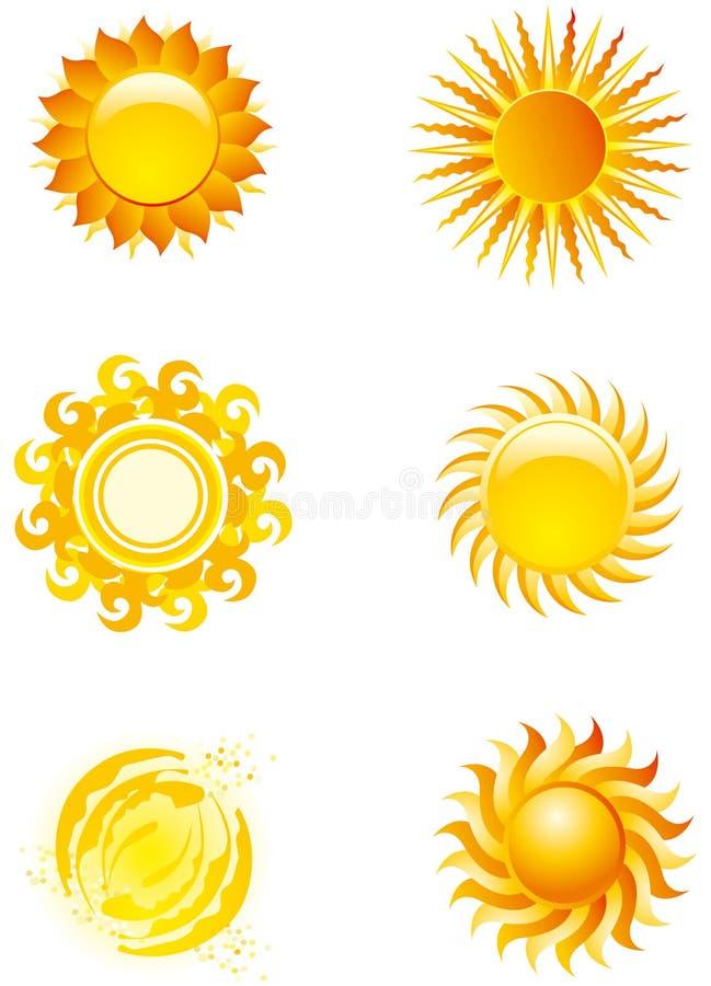 Graphismes de Sun image libre de droits