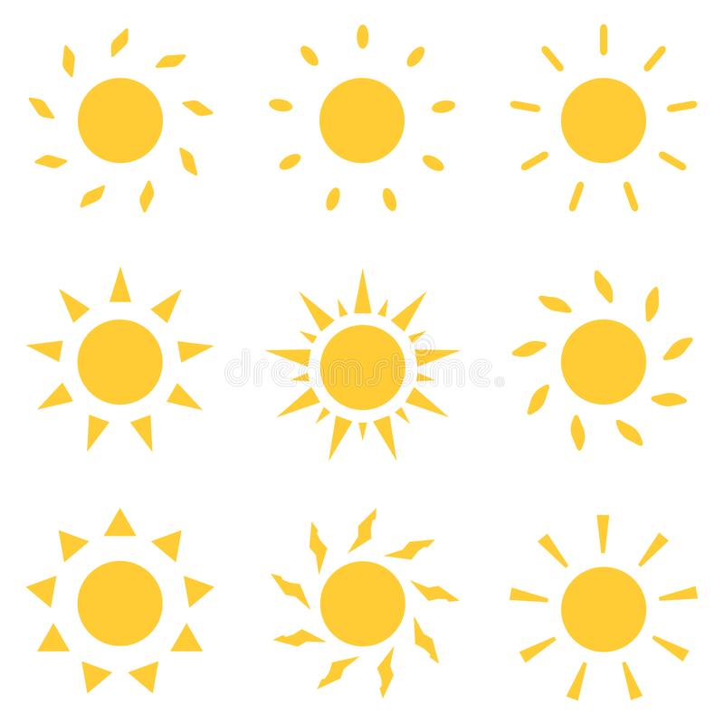 Graphismes de Sun r?gl?s Illustration de vecteur illustration de vecteur