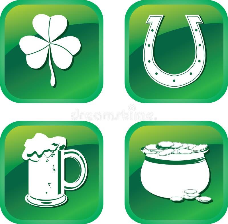 Graphismes de symboles de Patrick illustration de vecteur