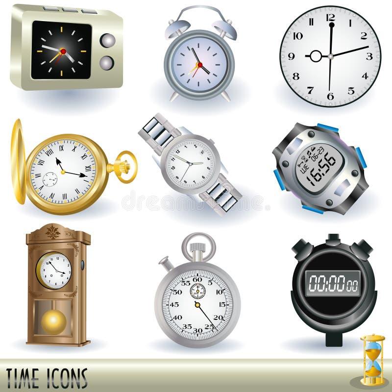Graphismes de temps illustration stock