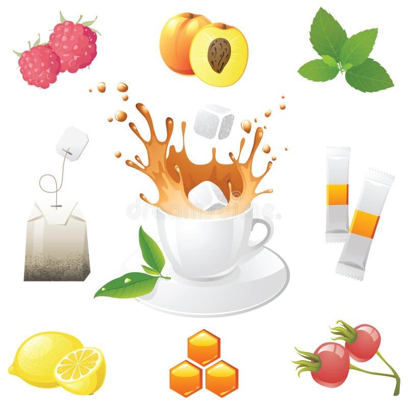Graphismes de thé illustration stock