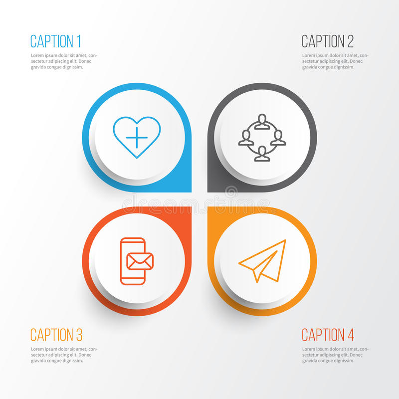 Graphismes de transmission réglés La collection de Team Organisation, démarrage, s'ajoutent aux favoris et d'autres éléments Incl illustration stock