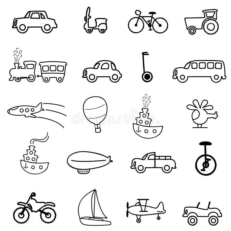 Graphismes de transport illustration de vecteur