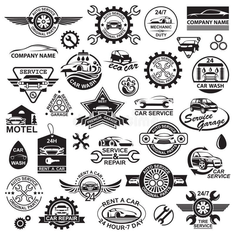 Graphismes de véhicule réglés illustration libre de droits