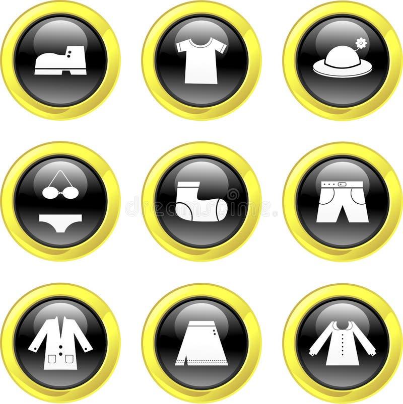 Graphismes de vêtement illustration libre de droits