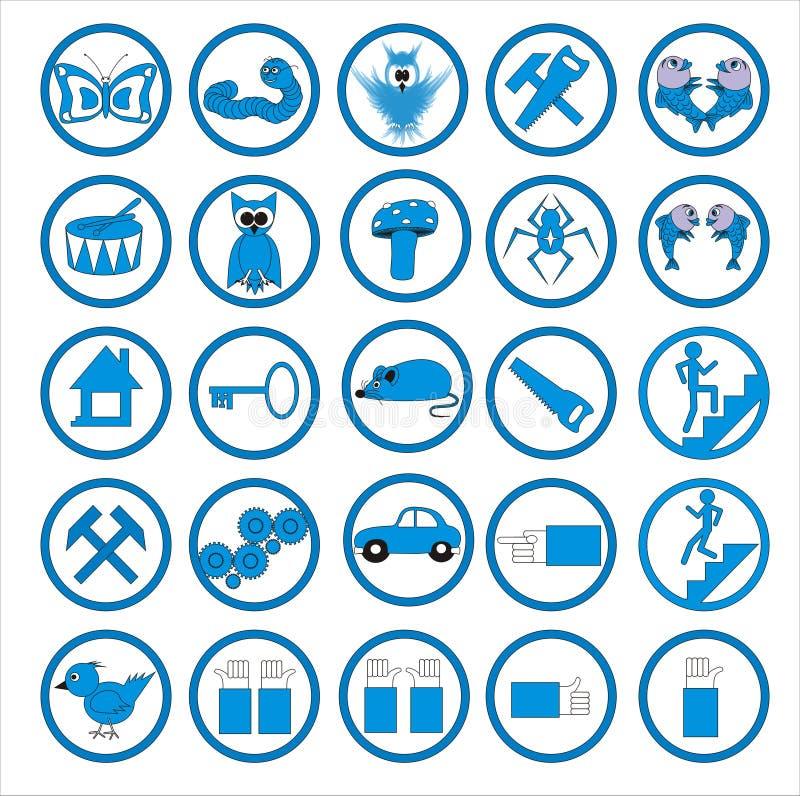 Graphismes de Web illustration de vecteur