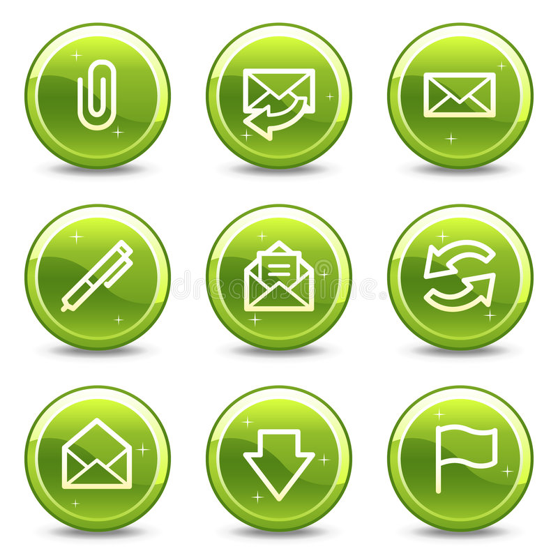 Graphismes de Web d'email illustration stock
