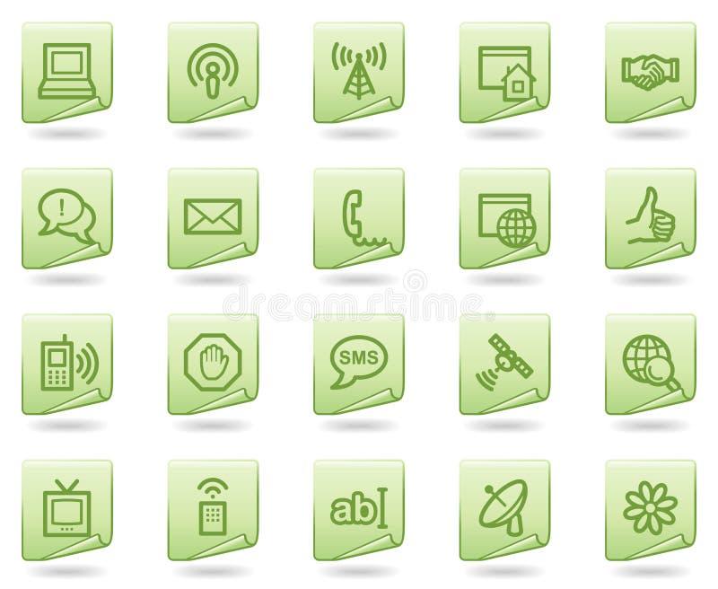 Graphismes de Web de transmission d'Internet, document vert illustration libre de droits