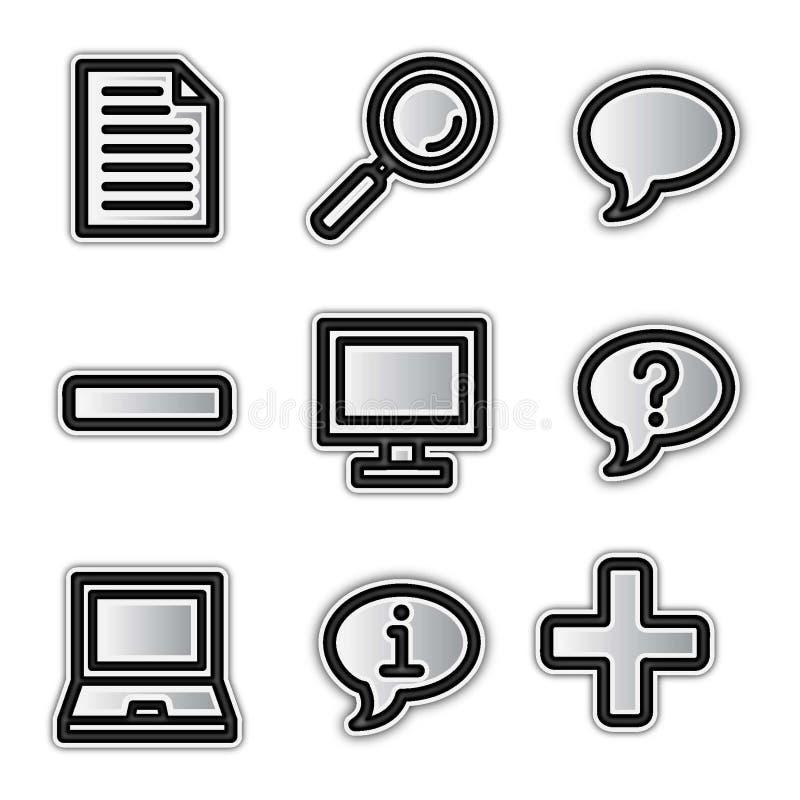 Graphismes de Web de vecteur, forme argentée diverse illustration de vecteur