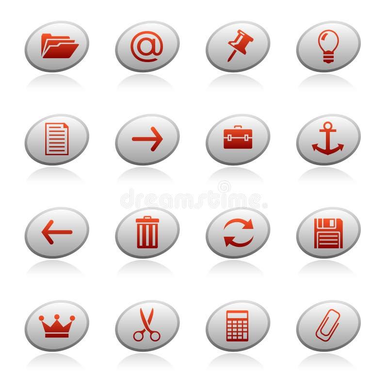 Graphismes de Web sur les boutons 3 d'ellipse illustration libre de droits