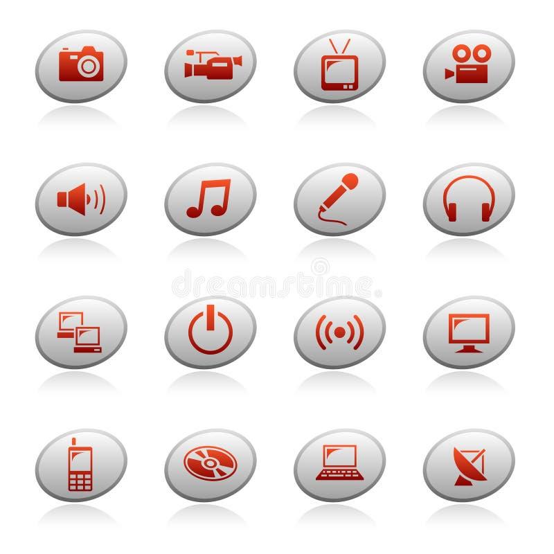 Graphismes de Web sur les boutons 4 d'ellipse illustration stock