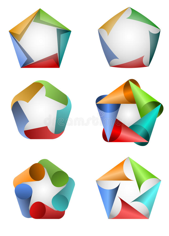 Graphismes du Pentagone illustration stock