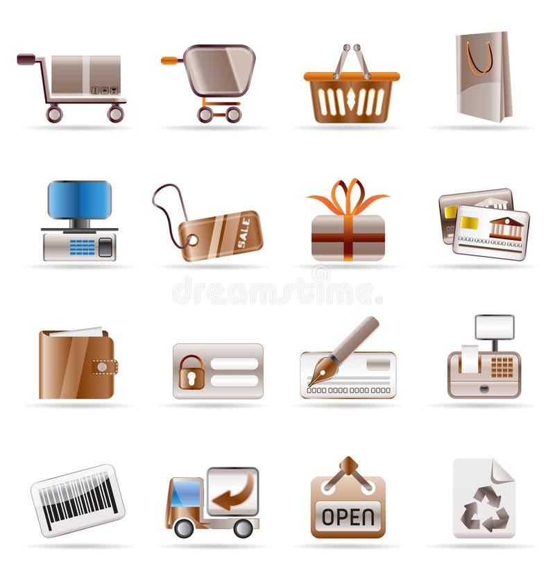 Graphismes en ligne de système et de site Web illustration stock