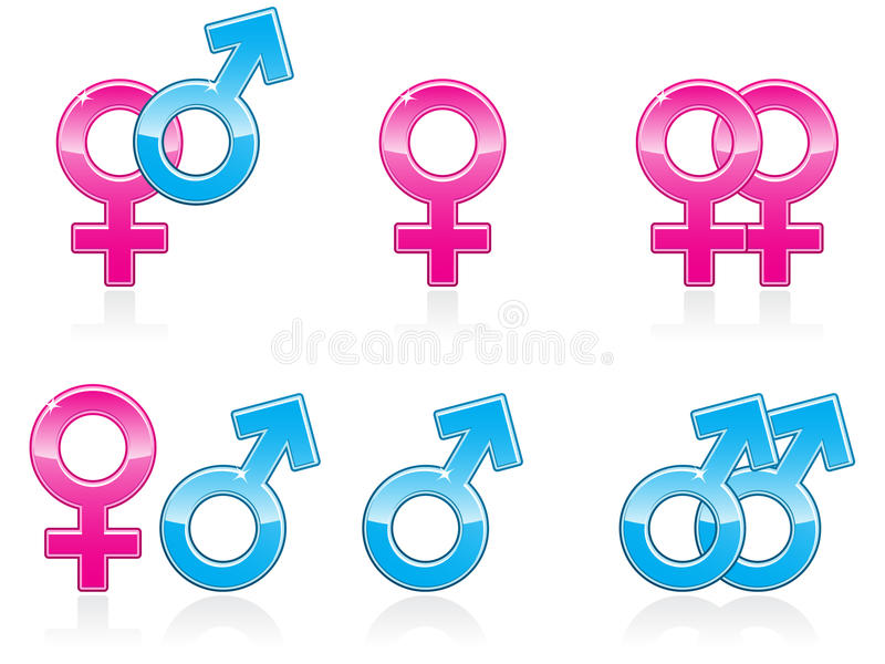 Graphismes ENV de symbole de genre illustration libre de droits