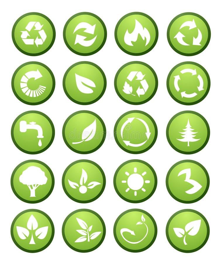 graphismes environnementaux d'éléments de conception illustration stock