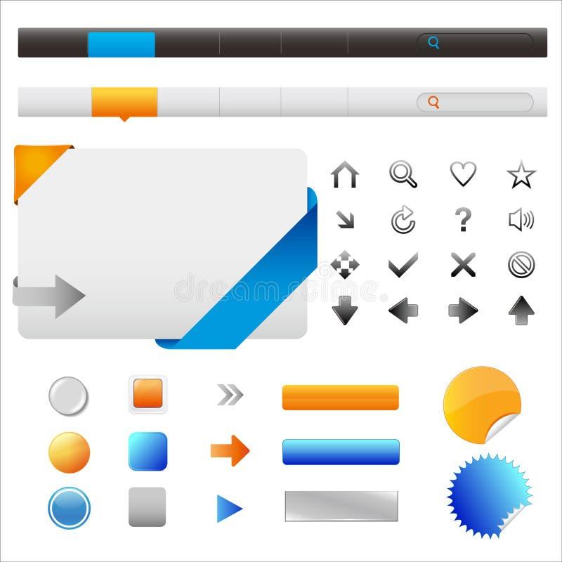 Graphismes et éléments de site Web illustration de vecteur