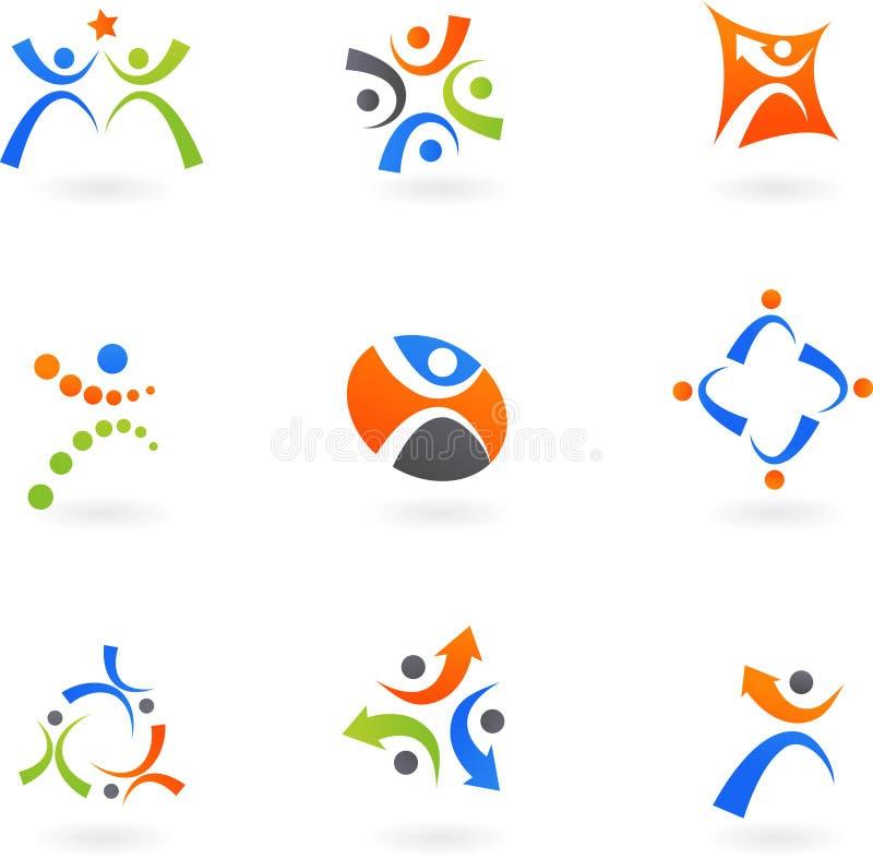 Graphismes et logos humains 2 illustration libre de droits