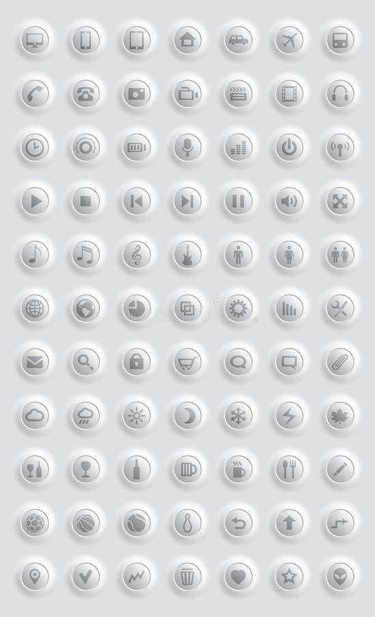 Graphismes Et Pictogrammes Réglés Photos libres de droits
