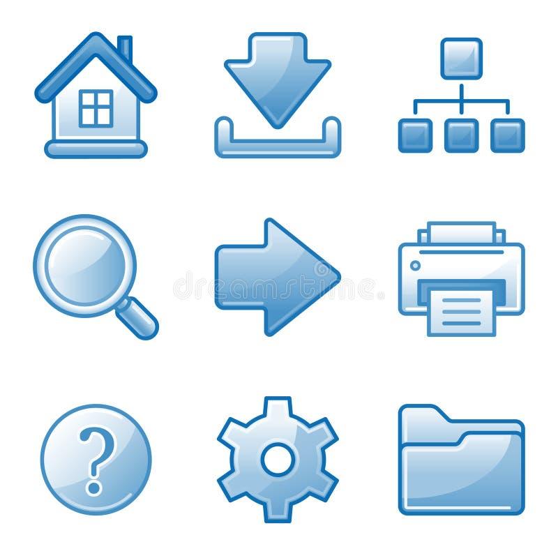 Graphismes fondamentaux de Web illustration de vecteur