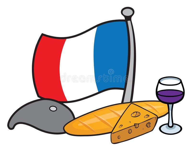 Graphismes français illustration libre de droits