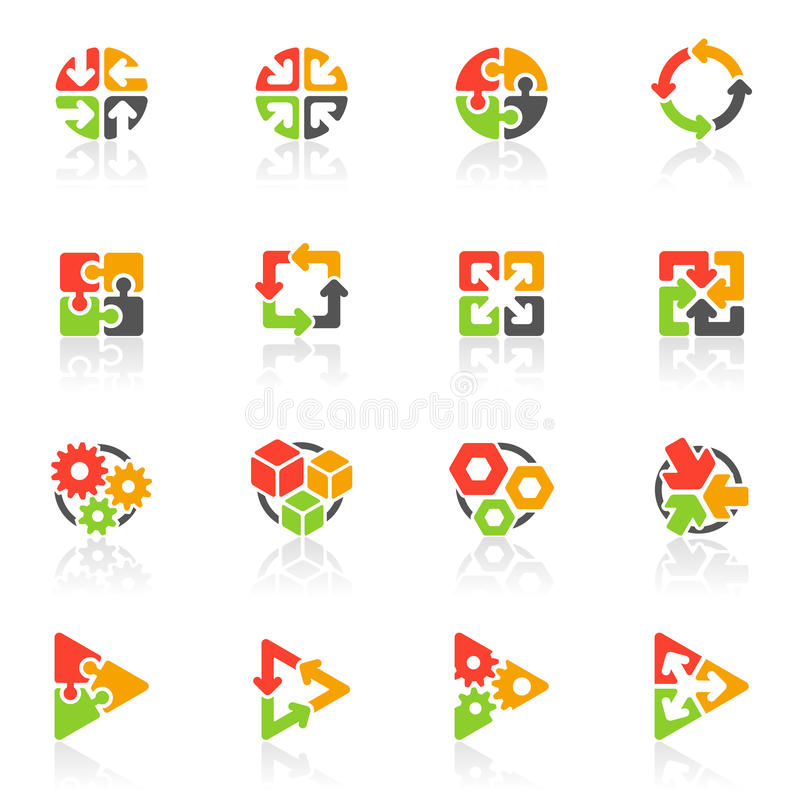 Graphismes géométriques abstraits. Descripteur de logo de vecteur   illustration stock