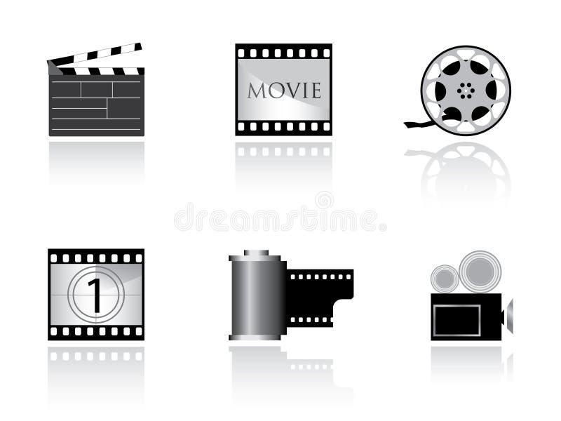 Graphismes gentils de film illustration stock