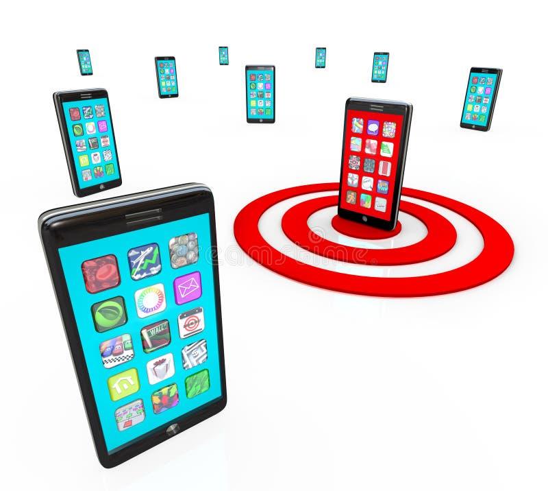 Graphismes intelligents visés d'application de téléphone pour Apps illustration libre de droits