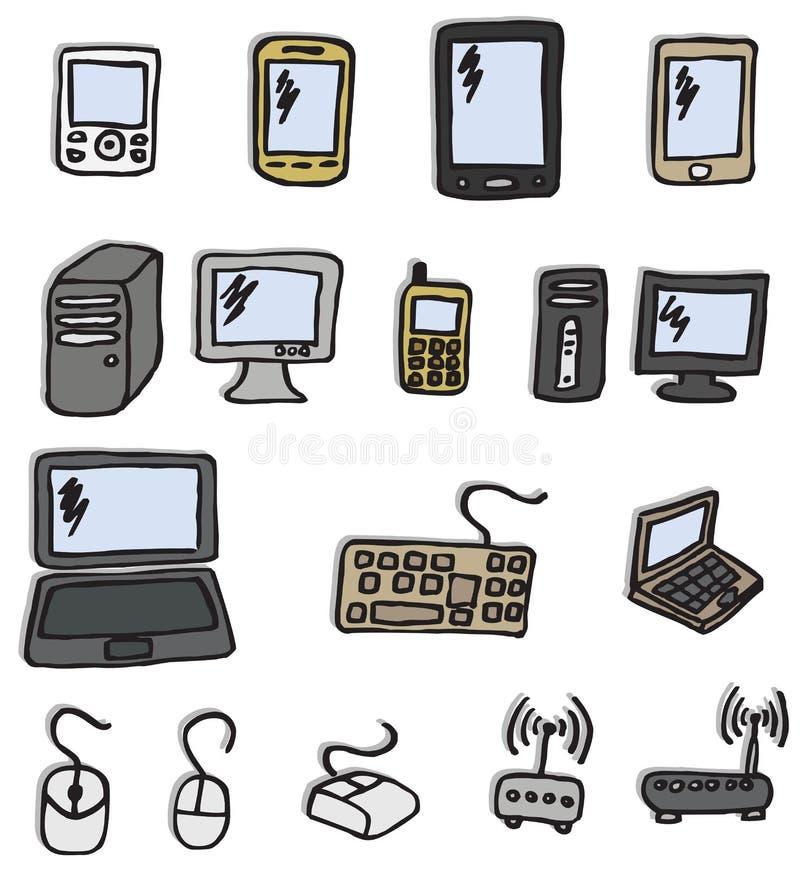 Graphismes - l'électronique illustration libre de droits