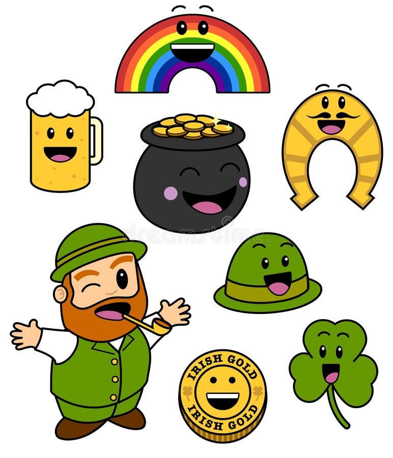 Graphismes mignons de jour de St Patricks illustration libre de droits